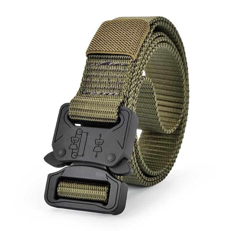 Cinturón para Hombres ejército Militar táctico Correa de Nylon Moda deporte Lujo
