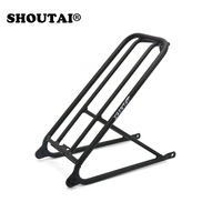 Bicycle Ultra Light Aluminum Bracket Mini Rack Small Wheel for Brompton Folding Cycling Bike Part
