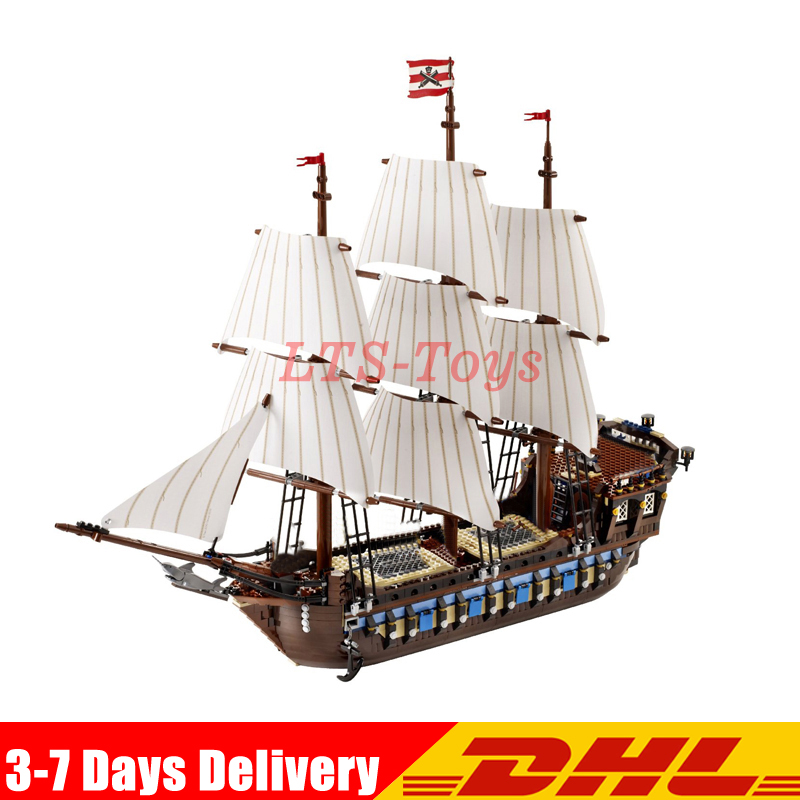 2018 DHL NEW LEPIN 22001 Pirate Ship warships Model Building Kits Block Briks Gift 1717pcs Compatible DIY 10210 Educational Toys lepin 22001 pirates series the imperial war ship model building kits blocks bricks toys gifts for kids 1717pcs compatible 10210