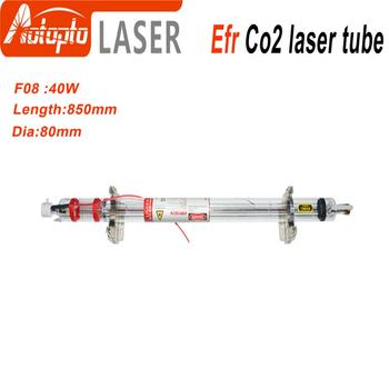Efr CO2 Laser Tube F08  40W-50W for CO2 Laser Marking Engraving Machine Wooden Box Packing efr f2 80w co2 glass laser tube 80mm diameter 1250mm length for co2 laser engraving machine