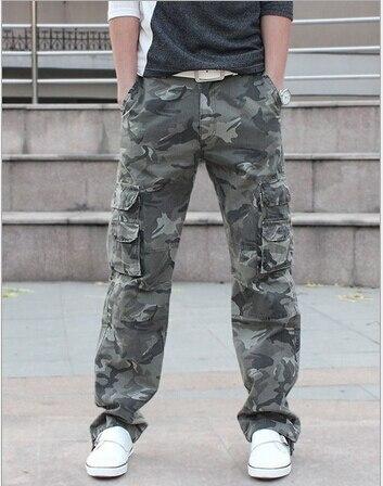 mens straight leg cargo pants - Pi Pants