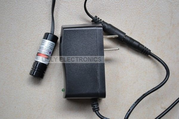 150mW 405nm Violet Blue Laser DOT Module /w US-Plug AC Adapter