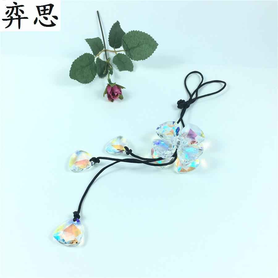 Exquisite colored glass material for automobile accessories Automobile rearview mirror decorative pendant car Styling ornament