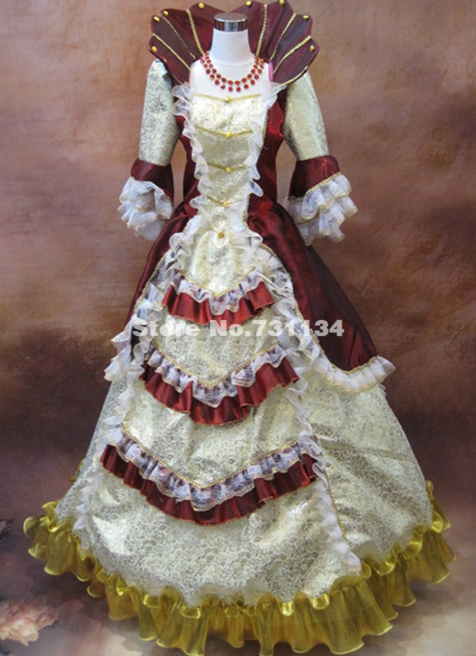 Black Renaissance Gothic Victorian Queen Dresses Halloween Costume 18th Century Rococo Steampunk Marie Antoinette Dresses