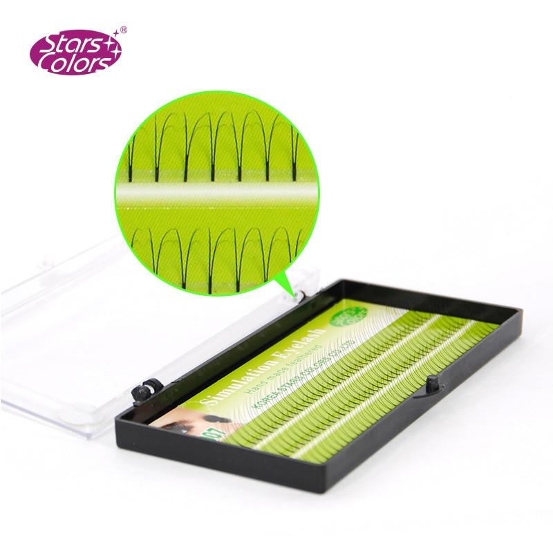 2D Tow linhas cílios Maquiagem Cílios 0.10 milímetros C & D Onda Cílios Natural Longo Cílios Postiços eye lashes Extensão ferramentas de beleza