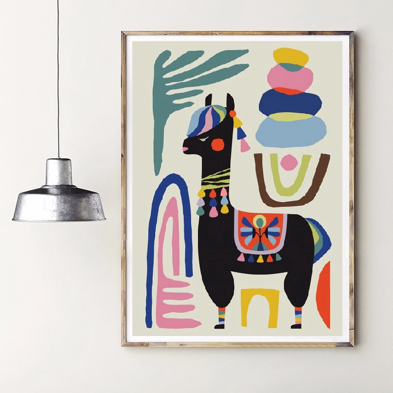 HTB1MF86aZnrK1RjSspkq6yuvXXaq Llama Poster Print Alpaca Sheep Home Inspirational Wall Art Canvas Painting Mid Century Wall Art Nursery Prints Modern Decor