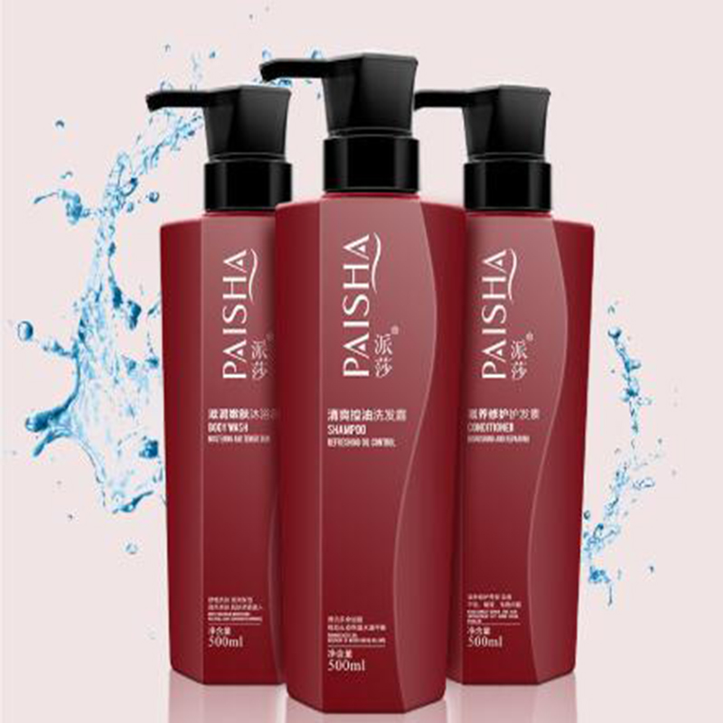 Paisa gel douche revitalisant shampooing 3*500 ml famille lavage bain kit de soin hydratant hydratant nutrition souple