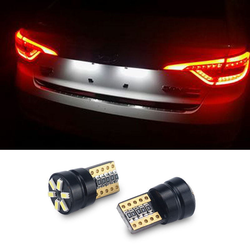 2pcs T10 W5W LED Car Canbus bulbs t10 socket lamp license plate light for Hyundai Sonata ix25 ix35 i20 i10 accent solaris deechooll 2pcs wedge light for mazda 2 3 5 6 mx5 rx8 cx7 626 gf gg ge gw canbus t10 57smd 6w led clearance xenon lighting bulbs