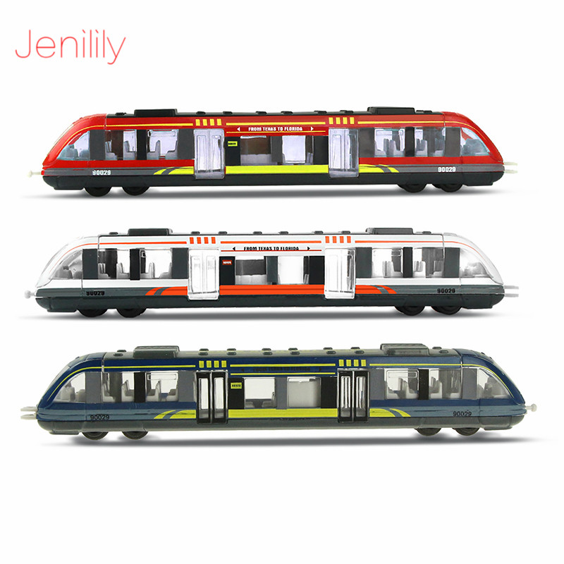 Alloy High-speed Rail Train Model Slide Toy Car 3 Colors Miniature Vehicles Education Toys For Boys Children Birthday Gift