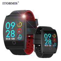 ITORMIS Smart Wristband Watch Band Fitness Bracelet with Heart Rate Tracker Blood Pressure Waterproof Customize Watch Dial Sport