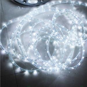 Image 2 - עמיד למים קשת צינור חבל led רצועת חג המולד אור בחוץ חג קישוט אורות 2M 20M AC220V IP65 led rgb הרצועה