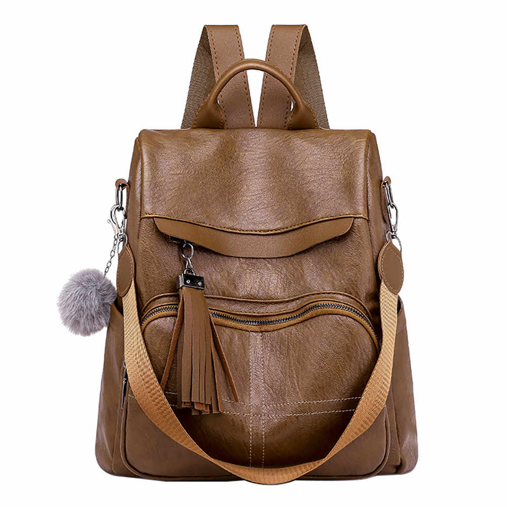 acb1a927772f Detail Feedback Questions about Women Anti theft Backpack Leather Multi  function Shoulder Bag Female Design Luxury Rucksack Casual Large Capacity  Mochila 16 ...