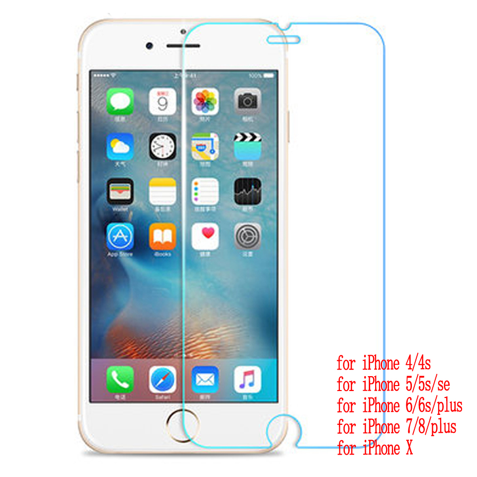 Galleria fotografica Wellzly tempered glass for iphone 6s for iphone 7 glass screen protector cover 2.5d HD 9H for iPhone 4 4s 5 5s se 6s 7 8 x plus