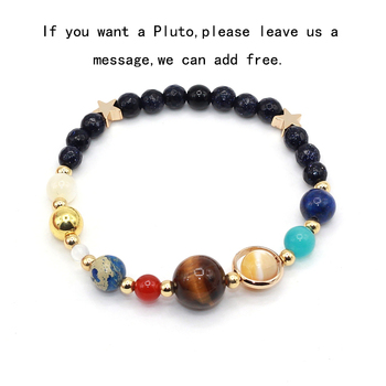 Womens Solar System Bracelet - Natural Stone Galaxy Beads Universe Bracelet - Eight Planets Solar System Guardian Star Bangle Bracelet  for Women and Men 1