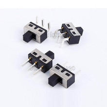 100 pces ss12d10 ss12d11 interruptor de alternância 3 pinos em linha reta pés 1p2t lidar com alta 5mm espaçamento de 4.7mm 3a 250 v ss12d10g5