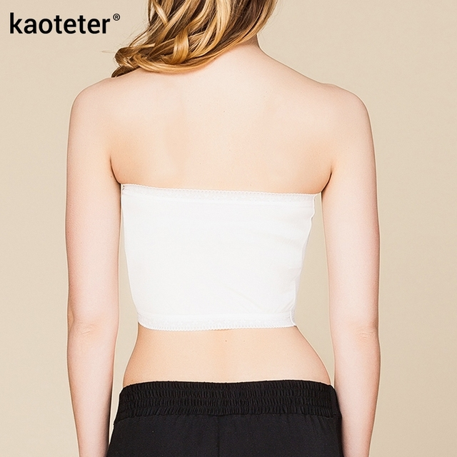100% Pure Silk Women's Wide Tube Tops Femme Sexy Thin Lace Wrap Chest Women Strapless For Ladies Without Bra Pads Woman Female