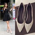 Silver spring new flats female point big yards sequins bridesmaid wedding shoes flat documentary the shallow mouth of the four s