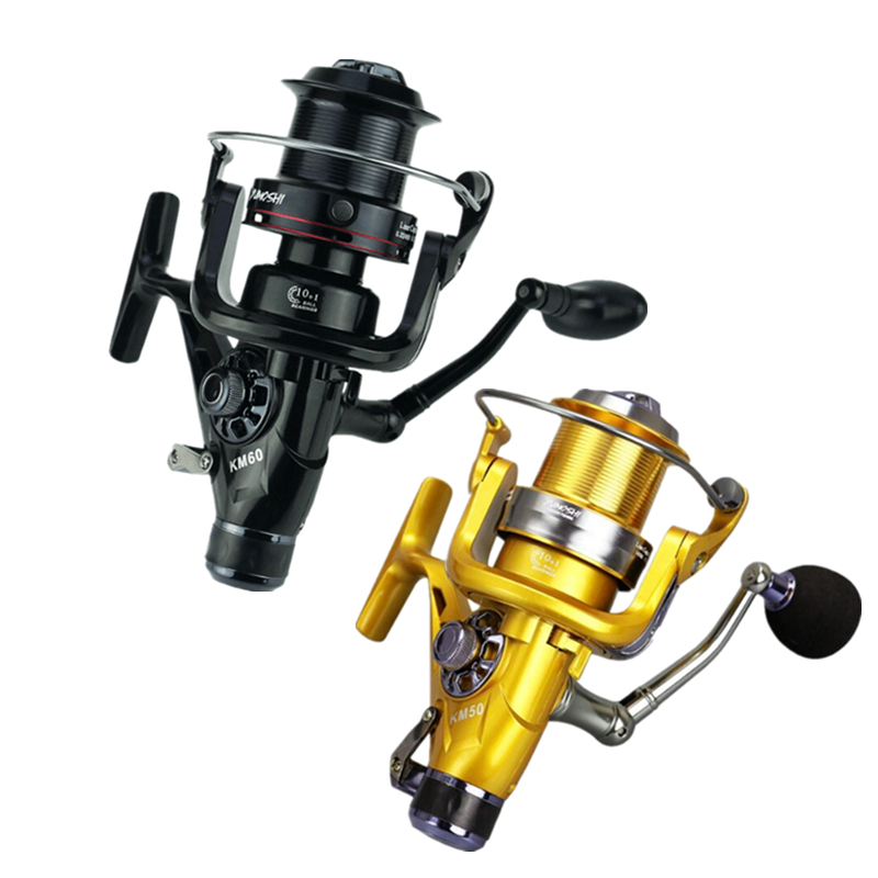 Fishing Reel Carp Spinning Reel Carbon Front and Rear Drags 18KG Max Drag 10+1 BB Metal Spool Sea Boat Reel EVA Knobs yf 9000 surf casting reels spinning reel long shot fishing reel with a spare metal spool max drag 18kg