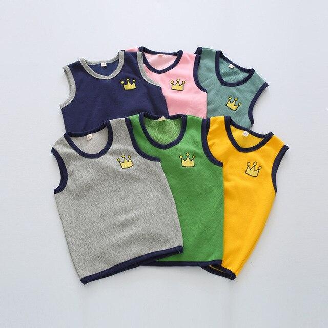 Мода осень и зима дети девушки жилет новый бархатные теплые детские жилеты жилеты возраст от 2-9 Т