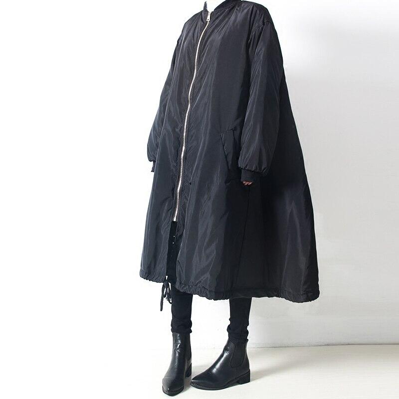 SuperAen 2017 Autumn and Winter New Warm Parkas Coat Women Cotton Solid Color Zipper Korean Style Women Parkas Coat Wild Casual