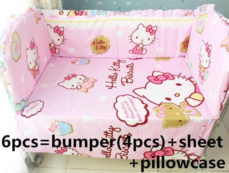 Promotion! 6/7PCS Cartoon Baby bedding set crib bedding set 100% cotton bedclothes  120*60/120*70cm