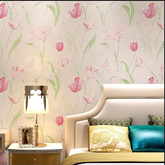 Beibehang Moderne Menage Sens De La Mode Lotus 3d Papier Peint