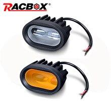 20W LED עבודה אור 6D אוניברסלי אופנוע מכביש עזר ספוט מנורת נהיגה ערפל אור עבור רכב משאית אופנוע פנס ספוט