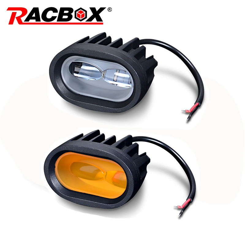 20W LED Work Light 6D Universal Motorcycle Off Road Auxiliary Spot font b Lamp b font