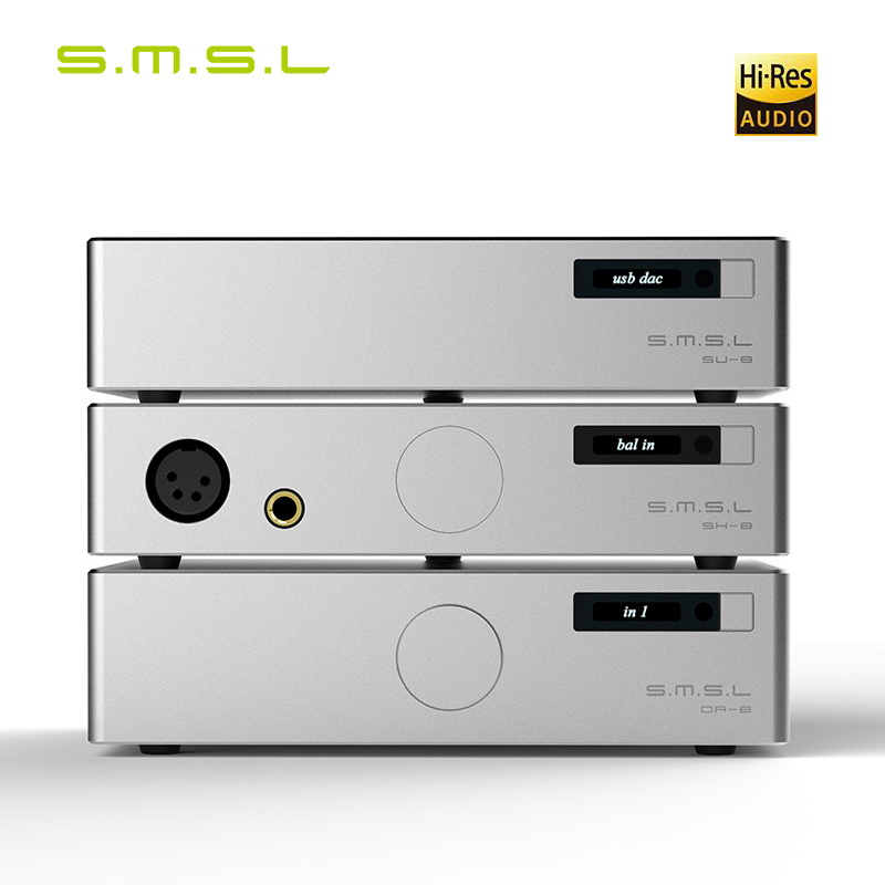 SMSL 888 Suit SH-8 Headphone Amplifier DA-8 Power Amplifier SU-8 2ES9038Q2M DSD Balance DAC DecoderSMSL 888 Suit SH-8 Headphone Amplifier DA-8 Power Amplifier SU-8 2ES9038Q2M DSD Balance DAC Decoder