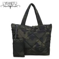 LYKANEFU 3 Sets Waterproof Women Handbag Soft Winter Bag Women's Shoulder Bags Tote Purse Oxford Designer Handbags High Quality