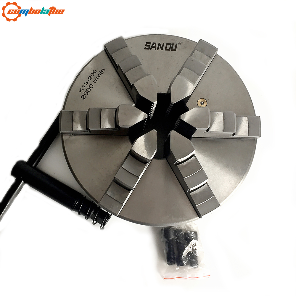 6 jaw chuck self centering 200mm 8 inch manual type SAN OU brand for bench lathe