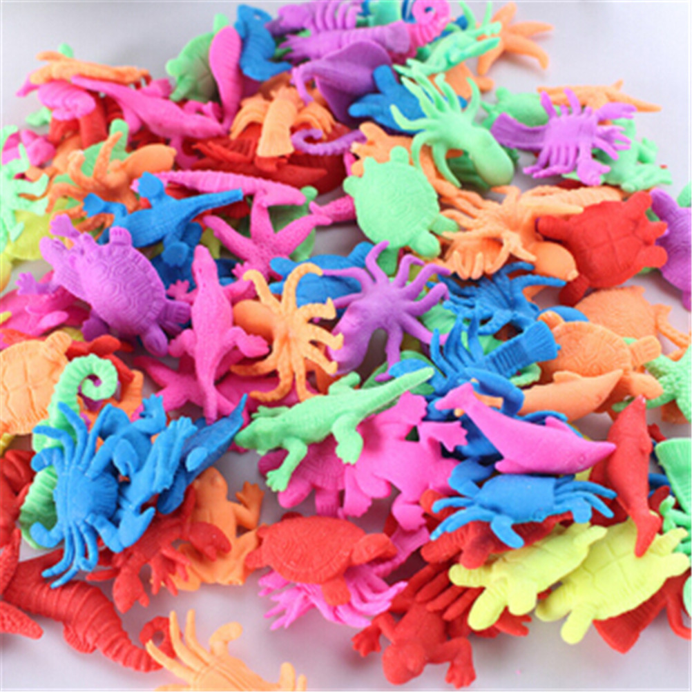 10pcs Ocean Animal Growing Toy Marine Biology Toys Sea Animals Toy Magic Soaking Epansion Swelling In Water For Kids Gift
