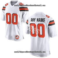 Custom Football Jersey Personalized Your Names Numbers ,Cleveland Embroidered Team Jersey For Men Women Kids High School College