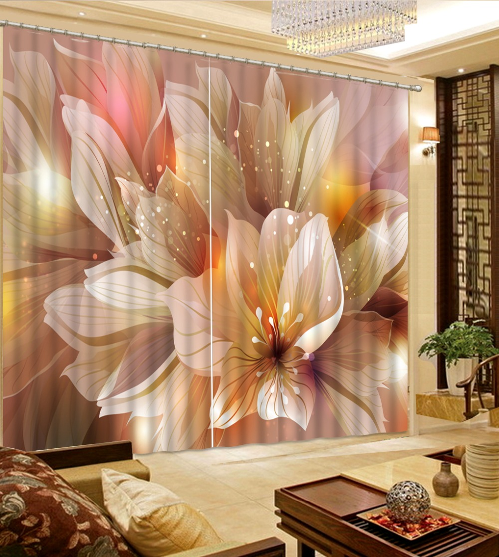 Us 49 2 59 Off Home Decor Room Dividers Curtains Dream Flowers Pleated Curtains For Living Room Kitchen In Curtains From Home Garden On Aliexpress