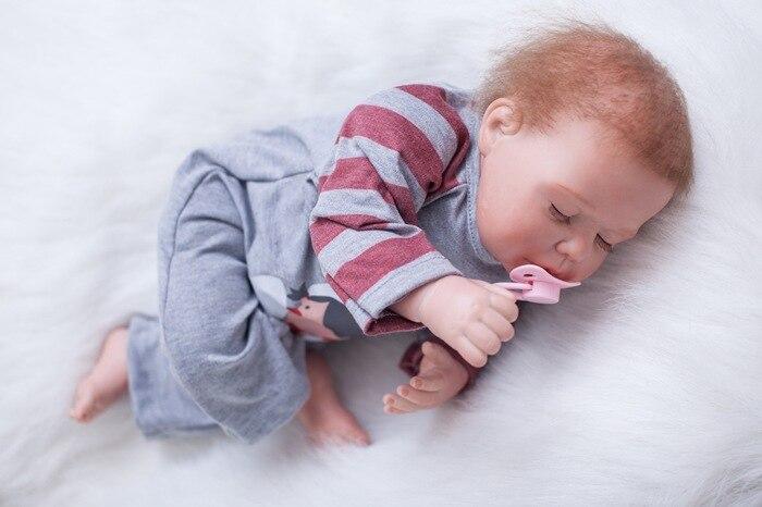 SHINEHENG 20 Inches Silicone Reborn Baby Doll Cute Sleeping Baby Toys Lovely Birthday Present Gift Girls Brinquedos YOT-5R2