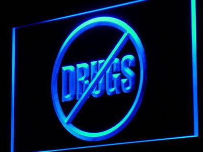I966 без наркотиков Дисплей Предупреждение Бар НОВЫЙ Декор неоновый свет sign on/off Swtich 20 + Цвета 5 размеров