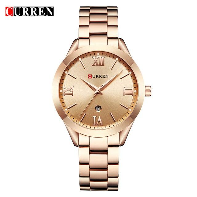 CURREN 9007 Top Luxury Brand Women Quartz Watch Ladies wristwatches relogio femi