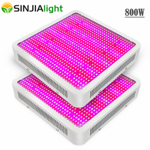 2pcs/lot Full Spectrum 800W led grow light for hydroponics greenhouse Grow Tent LED Lamp suitable for all stages of plant growth hydroponics lighting greenhouse ufo led grow light 90w plant lamp for indoor grow tent with all red 630nm
