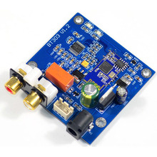 QCC3003 Bluetooth 5.0 מודול עם PCM5102 DAC תמיכת A2DP, AVRCP, HFP, AAC, I2S עבור מגבר DC12V