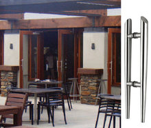 цены Entrance Pull Handles Torch 304 Grade Stainless Steel Architectural Door Handle 38*530mm For Wooden/Frame/Glass Doors HM79