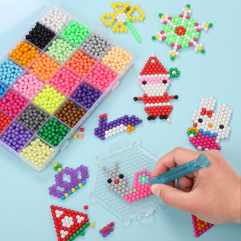 24 Colors Water Beads Full Set Tool Kit Kids Puzzle Toys DIY Game 3D Puzzle Toys Birthday Gift