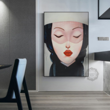 Figure Decoration Painting Bedroom Wall Nordic Soft Retro Abstract Luxury Living Room Hanging Pictures