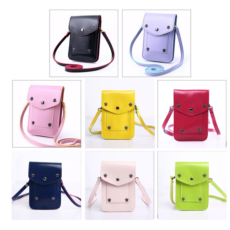 2017 New Fashion Mini Handbags Leather Candy Color Bag Small Shoulder Bag Women For Women Messenger Bags School phone Bag купить
