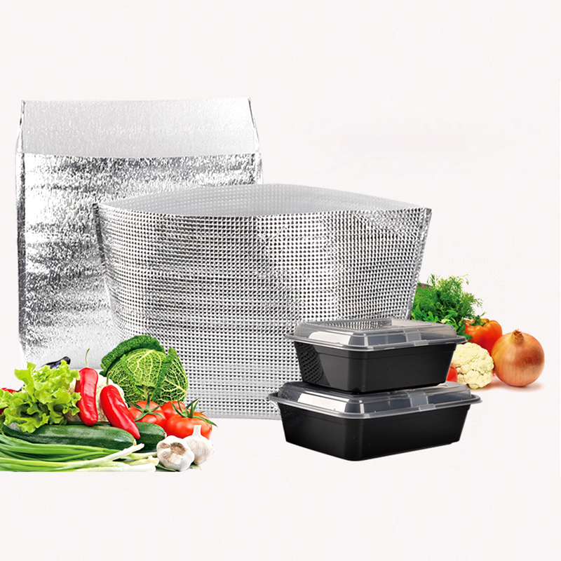 Disposable Big Capacity Takeout Packing Bags Aluminum Foil Insulation Takeaway Food Warm Bag Fresh Frozen Ice Pack Cold Bags
