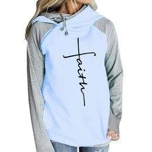 Осень 2018 г. толстовки кофты для женщин с длинным рукавом вера вышивка теплый пуловер капюшоном топы корректирующие плюс размеры повседнев
