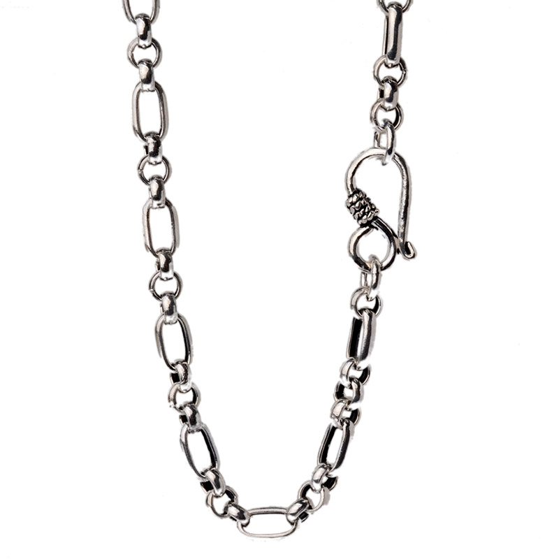 JustNeo solid 925 sterling silver chain necklace,Basic Chains