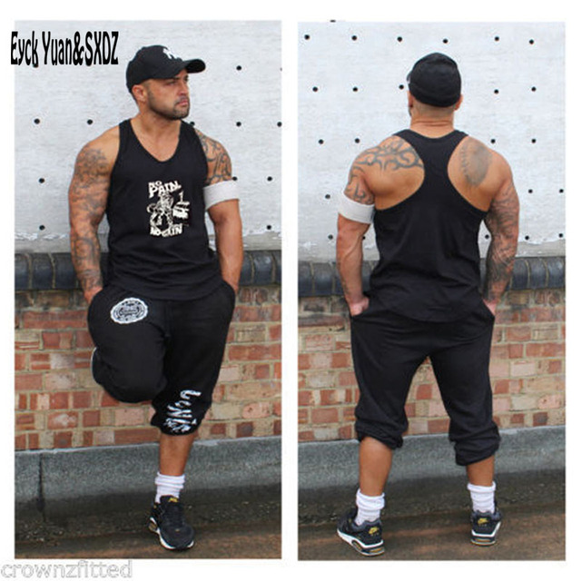 6e5718fbc842e Gymshark Bodybuilding Tank Top Men Phil Gasp Tops Muscle Stringer Singlet  Fitness Print Plus Size Sleeveless Shirt Sportswear. Price