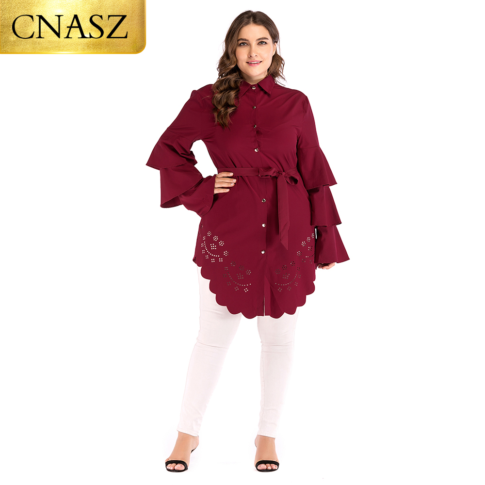 Arabic Long Tops Round Neck Loose Hollow 6xl Muslim Fashion Islamic Clothing