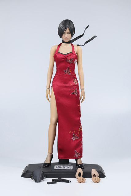 "1/6 Scale Resident Evil 4 Ada Wong 12"" Action figure Colletible Model Toy Body Head Clothesand Accessories"