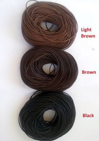 1.5mm 혼합 블랙 브라운 다크 브라운 각 색상 120 야드 정품 라운드 100% 암소 진짜 가죽 코드 문자열 팔찌 목걸이-에서보석 재료 & 부속품부터 쥬얼리 및 액세서리 의  그룹 1